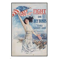 WW1 PROPAGANDA POSTER Howard Chandler Christy ARTIST woman and flag 24X36