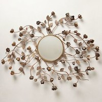 Flourishing Rosebuds Mirror by Anthropologie Brown One Size Wall Decor
