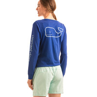 Long-Sleeve Pigment Dyed Vintage Whale Tee