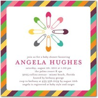 Baby Shower Invitations - Colorful Pins: Begonia by Tiny Prints