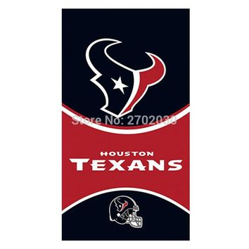 Black Red Houston Texans Flag Banners Football Team Flags 3x5 Ft Super Bowl Champions Banner Texan Hanging Printed Decoration