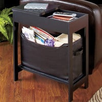 Side Storage Table with Bin