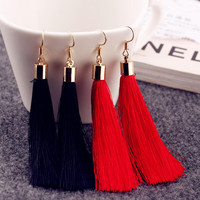 Stylish Korean Fashion Tassels Alloy Gold Earring Earrings [4915712708]