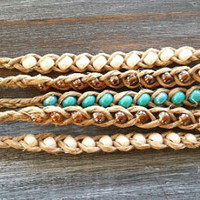 Beaded Hemp Friendship Bracelets - Pick One or Layer