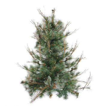 "3' x 28"" Country Mixed Pine Artificial Christmas Wall or Door Tree - Unlit"