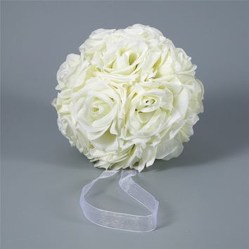 15*21cm Rose Flower Kissing Ball for Wedding Party Home Decoration ( 6 Colors )