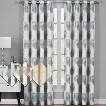 Lafayette Jacquard Grommet Curtain Panels (Set of 2)