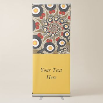 Brunch Fractal Art Funny Food, Tomatoes, Eggs Text Retractable Banner