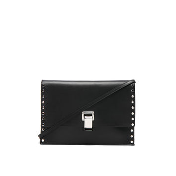 Proenza Schouler Small Lunch Bag with Studded Strap in Black | FWRD