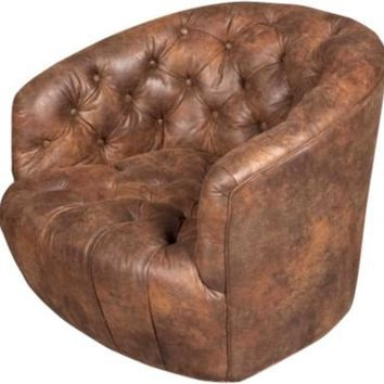 One Kings Lane - Katrien Van der Schueren - Low Buttoned Swivel Chair