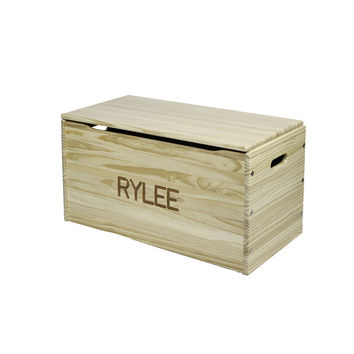 Toy Storage Chest - Wooden - Natural Laquer