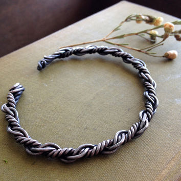 Twisted Copper Oxidized Bracelet - Unisex