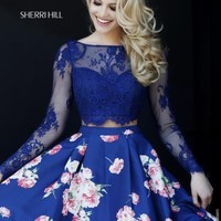 Amazing Sleeved Sherri Hill Short Dress 32323