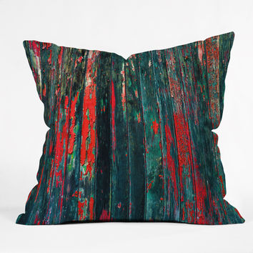 Caleb Troy Red Splinters Throw Pillow