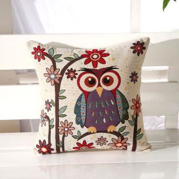 Cartoon Handmade Owl Home Decor Pillow Decorative Throw Pillows Cute Drawing 8