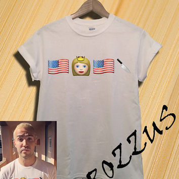 Official Fall Out Boy American Beauty/American Psycho Emoji Shirt T-shirt Tee Shirt White Color Unisex Size - NK64
