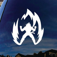 "Super Saiyan Goku Dragon Ball Z Car Window Vinyl Decal Sticker 6"" Tall"
