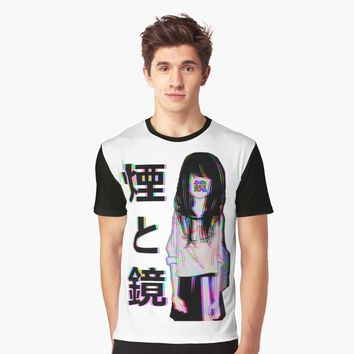 'MIRRORS Sad Japanese Aesthetic' Graphic T-Shirt by PoserBoy