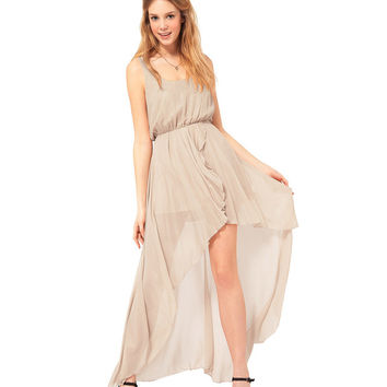 Nice-forever Summer Bohemian Fairy Square Neck Graceful Charming Beach Holiday Asymmetrical Length Elastic waist Woman Dress 397