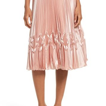 Ted Baker London Zigzag Detail Pleated Midi Skirt | Nordstrom