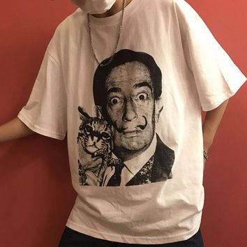Dali And Cat T-shirt