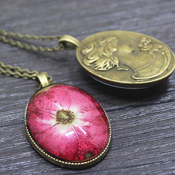 Vintage Style Handmade Floral Necklace Gift 153
