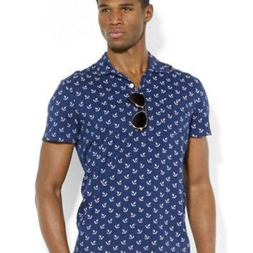 DCK7YE Polo Ralph Lauren Anchor-Print Jersey Polo Shirt