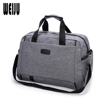 WEIJU New Large Capacity Men Travel Bags Portable Hand Luggage Duffle Bag Casual Traveling Women Shoulder Bag YR0470