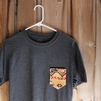 Arizona Desert Print Paige's Pocket Tee