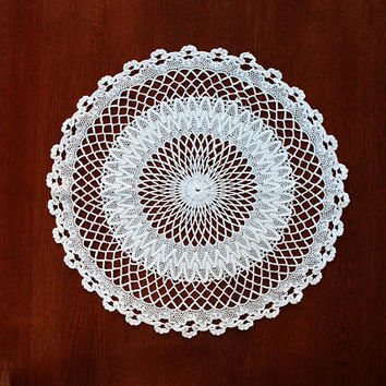 Crochet Tablecloth, Table Decoration, Round Tablecloth, Large Crochet Doily, Crochet Decoration, Large Lace Doily, Bohemian Decor, Boho