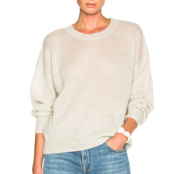 Isabel Marant Etoile Clifton Mohair Sweater in Chalk | FWRD