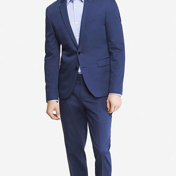 BLUE COTTON SATEEN INNOVATOR SUIT JACKET from EXPRESS