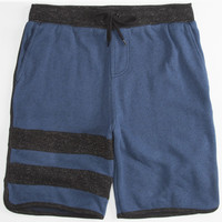 Hurley Active Block Party Retreat Mens Sweat Shorts Heather Navy  In Sizes