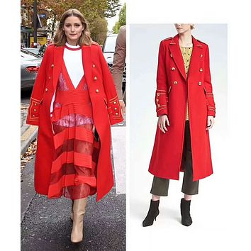Red Fashion Coat RC18