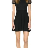 RED Valentino A Line Sweater Dress