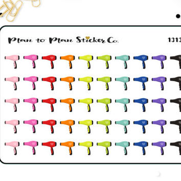 1313~~Hair Dryer Hair Appointment Planner Stickers.