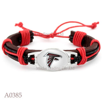 HOT Atlanta Leather Cuff Falcons Bracelet! Low Price! HURRY LIMITED SUPPLY!!! FREE SHIPPING!