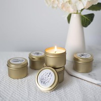 Sampler Set - Pick 4 Gold Mini Candles (2oz)