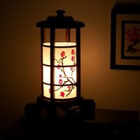 Japanese Cherry Blossom Lamp by BeaconLamps on Etsy