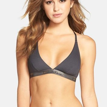Women's Calvin Klein Two-Tone Wireless Triangle Bra ,