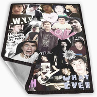 Calum Hood Collage Blanket for Kids Blanket, Fleece Blanket Cute and Awesome Blanket for your bedding, Blanket fleece *