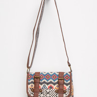Crochet 2 Buckle Crossbody Bag Multi One Size For Women 26645495701