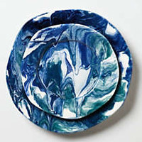 Anthropologie - Sea-Flecture Dinner Plate