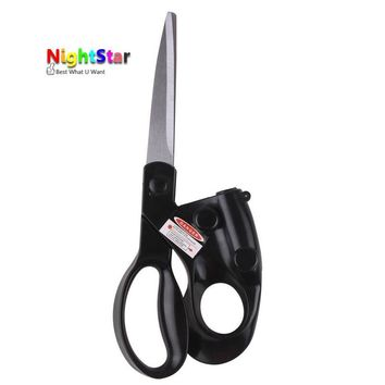 2017 Popular New Professional Laser Guided Scissors For home Crafts Wrapping Gifts Fabric Sewing Cut Straight Fast Scissor Shear