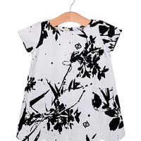 aaron + alice Black & White Ink Dress - Toddler & Girls | zulily
