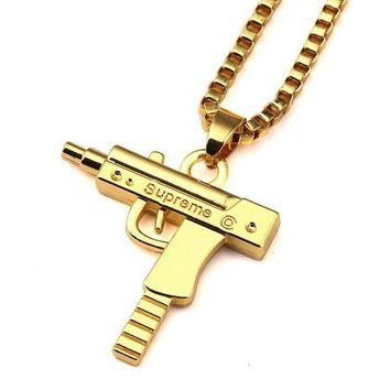 DCCKNY1Q Boys & Men Hip-Hop Pistol Necklace Jewelry