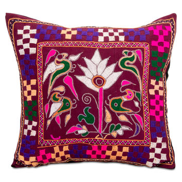 Surat Embroidered Pillow