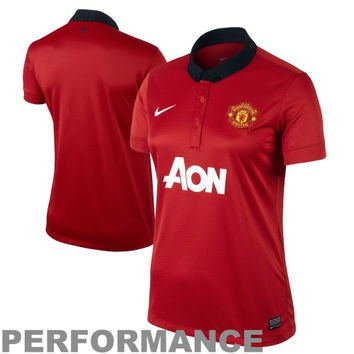 Nike Manchester United FC Ladies Replica Home Performance Jersey - Red