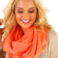 Peachy Delight Scarf: Coral - One