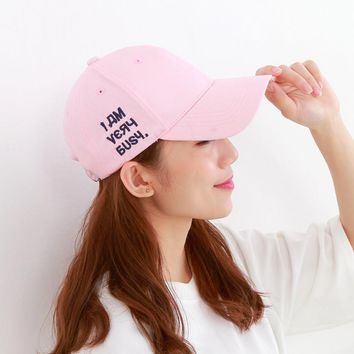 Tanworders Women Pink Letter Embroidery Baseball Caps 2017 Summer New Casual Cotton Hat For Girls Femme Casquette